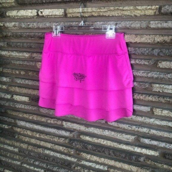 Athleta Hot Pink Tiered Running Skirt MT